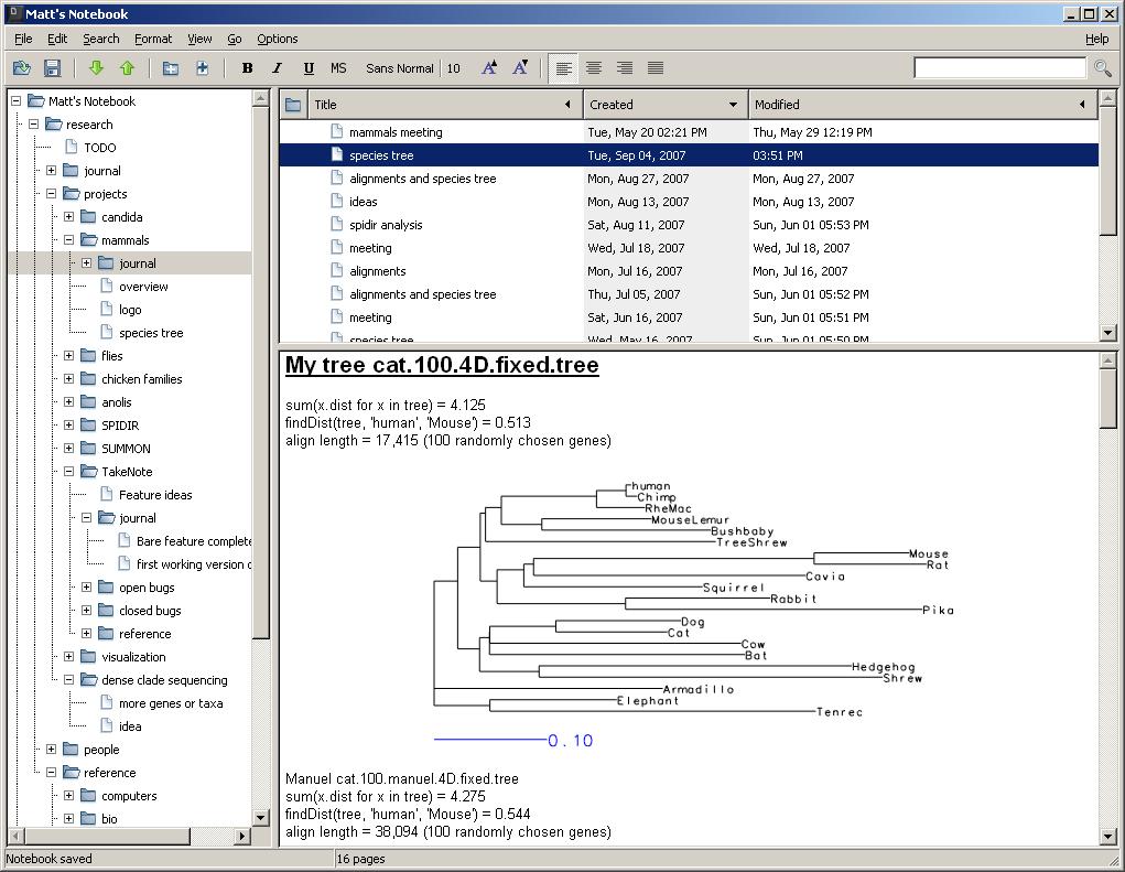 Windows 7 KeepNote 0.7.8 full