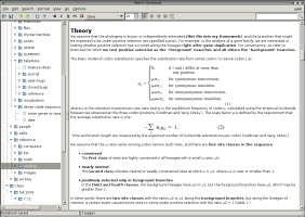 KeepNote screenshot
