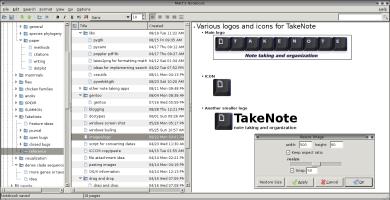 KeepNote image menu